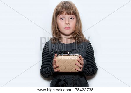 Teen Girl With Clutch