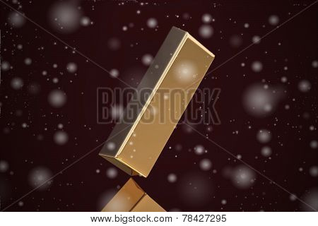 Gold Bar On Black Background (high Resolution 3D Image)