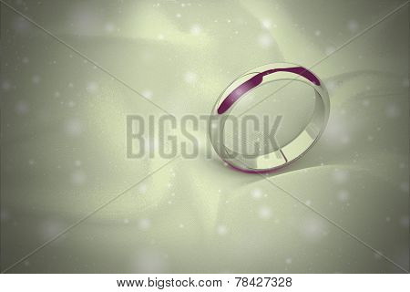 Gold Wedding Ring On Background ( Vintage Style)