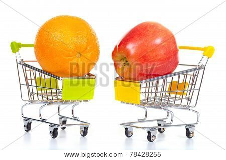 Fruits In Shopping Cart