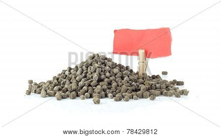 Heap Of Natural Fertilizerl On White