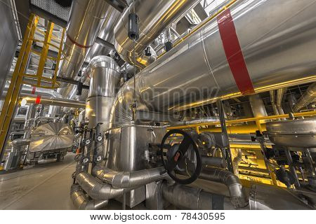 Industrial pipes in a thermal power plant