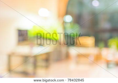 Blur Image Of Indoor Living Room.