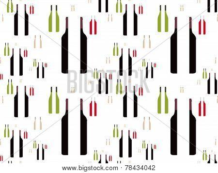 Bottles Of Wine In Half
