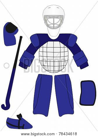 Field Hockey Goalkeeper Equipment Kit