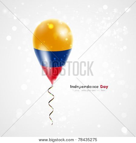 Flag of Colombia on balloon