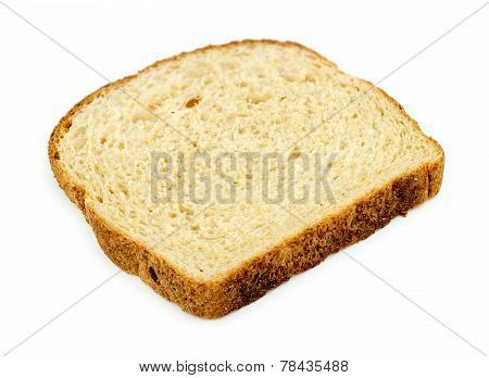 Slice Of Whole Wheat Breat Isolated On White