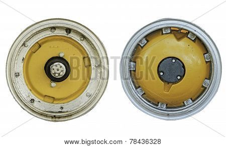 Inner Circle Wheel Tractor Isolated