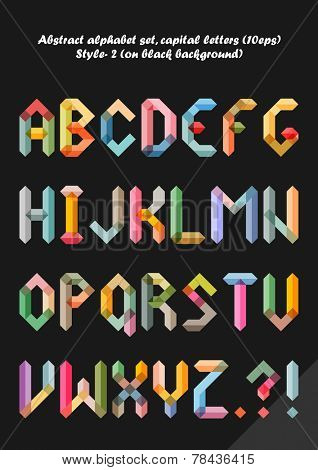 Abstract alphabet ( style 2 ), capital letters ( 10eps )
