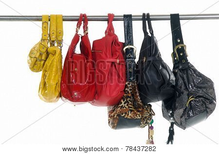 different bag for females on hangers
