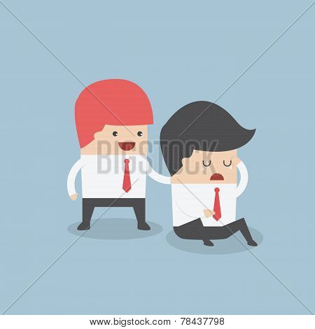 Businessman Console His Friend
