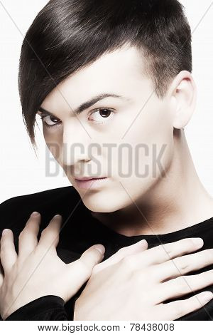 Young Man With Trendy Haircut