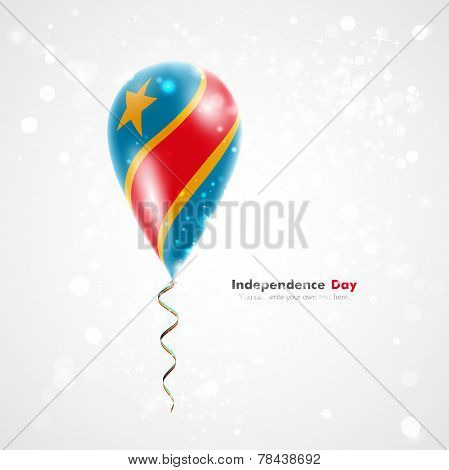Flag of Democratic Republic of Congo on balloon