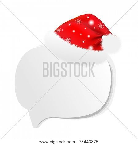 Xmas Sale Speech Bubble With Gradient Mesh, Vector Illustration