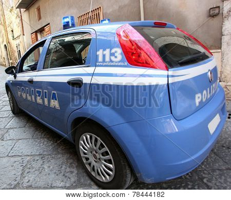 Car Of The Italian Police