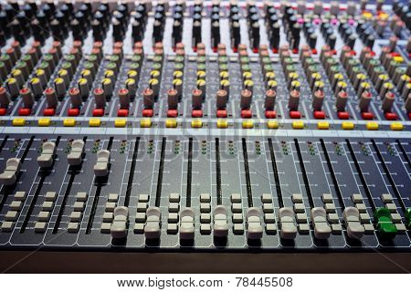 image of audio control desk
