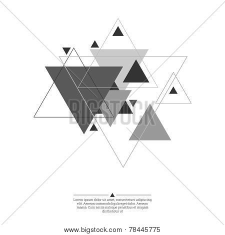 Abstract background with triangles.