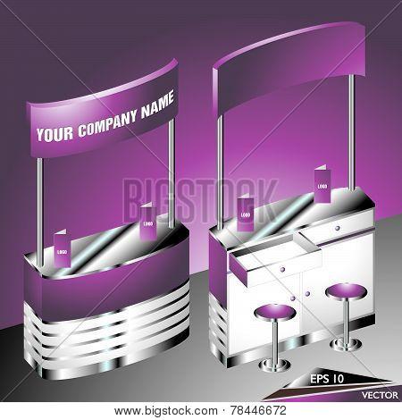 Purple Blank Expo Counter