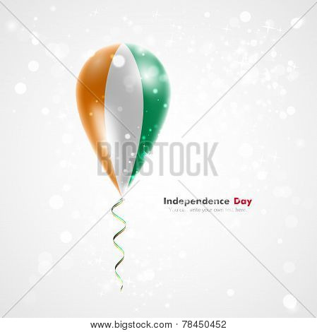 Flag of Cote Divoire on balloon