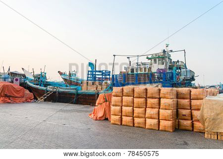 Cargo Port In Dubai Creek, United Arab Emirates