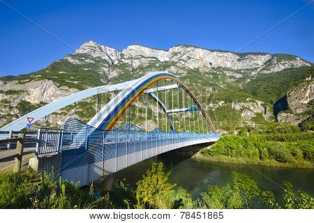 Bridge Over One River In The Mountain