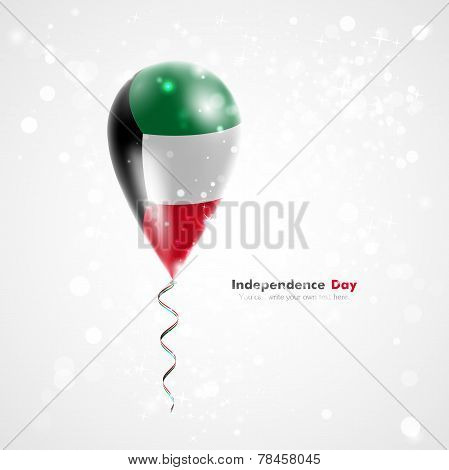Flag of Kuwait on balloon