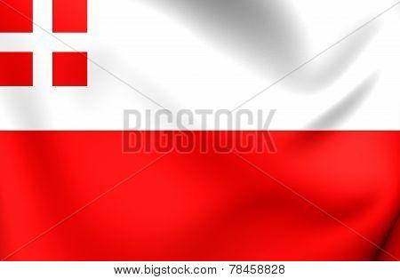 Flag Of Utrecht, Netherlands.