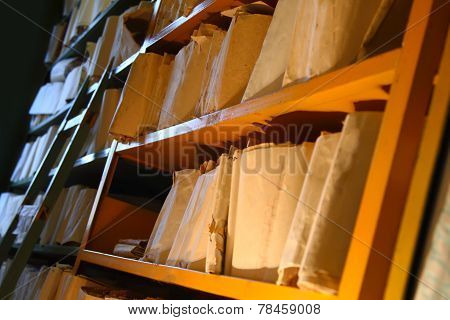 Paper Document In Archive
