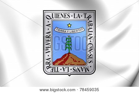 Flag Of Morelos, Mexico.
