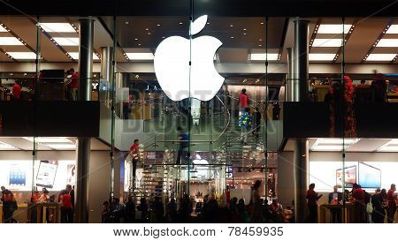 Apple Store opened its long-awaited first store in Hong Kong.