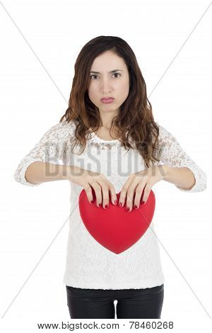 Frustrated Valentines Day Woman