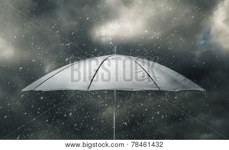 Umbrella In Thunderstorm