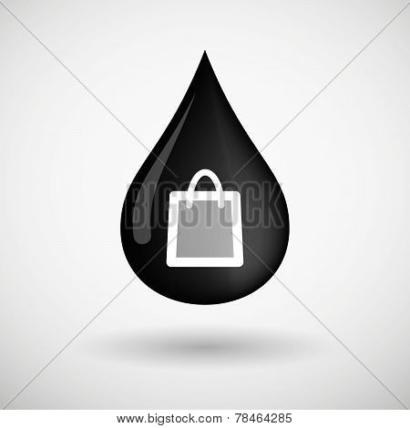 Oil Drop Icon With A Shopping Bag