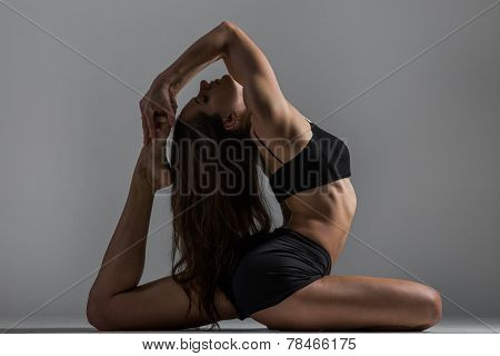 Yoga Girl In Asana