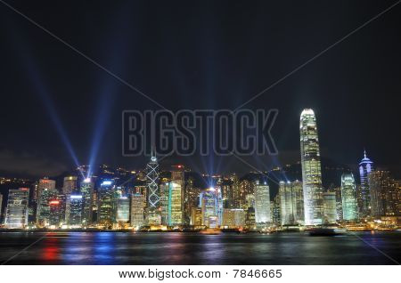 Show de luces interactiva en Hong Kong
