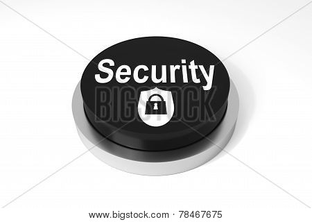 Black Round Button Security Symbol