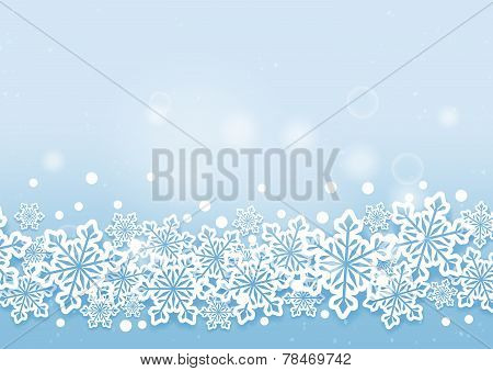 Winter Beautiful Snows Flakes Background