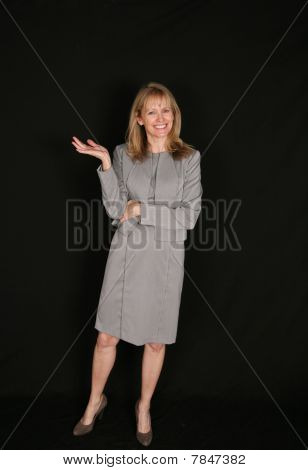Full Length Of Senior Business Woman