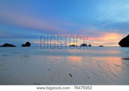 Low Tide At Sunset