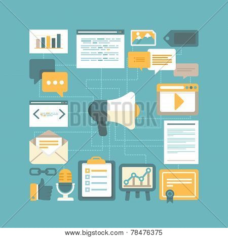 Vector Content Marketing Concept