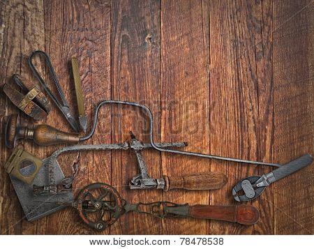 Vintage Jeweler Tools Over Bench