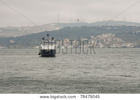 Bosphorus in the rainy day
