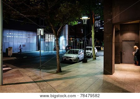 Night Streets Of Melbourne.