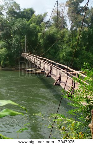 Foot bridge. River Kwai. Thailand