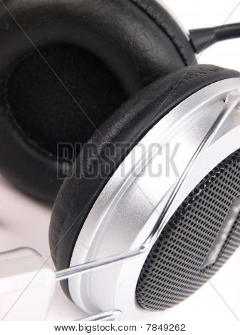 Headset. Close Up On White Background