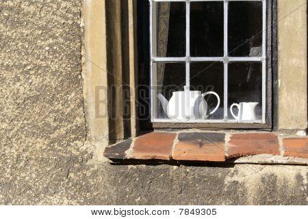 Window In Corpus Christi College Cambridge University