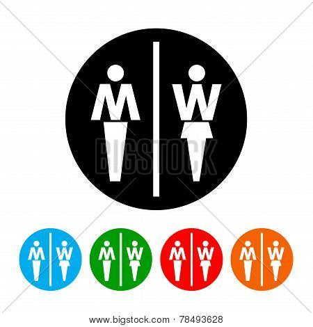 Male and Female Restroom Symbol Icon