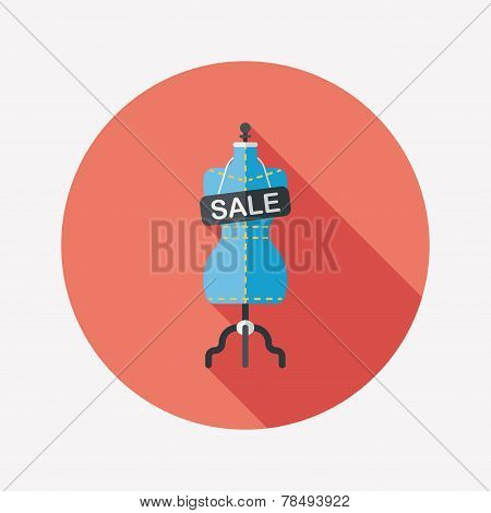 Shopping Mannequin Flat Icon With Long Shadow,eps10