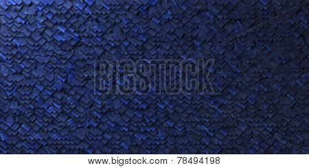 Cobalt Blue Abstract Background With Geometric Shape