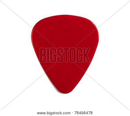 Guitar pick isolated on a white background
